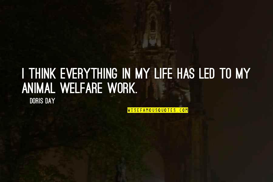 My Everything Quotes By Doris Day: I think everything in my life has led