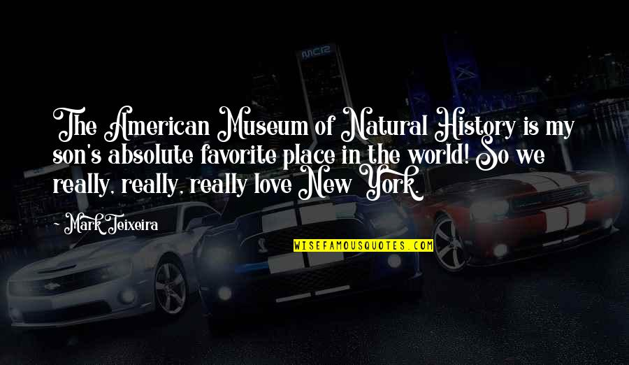 My Favorite Place Quotes By Mark Teixeira: The American Museum of Natural History is my
