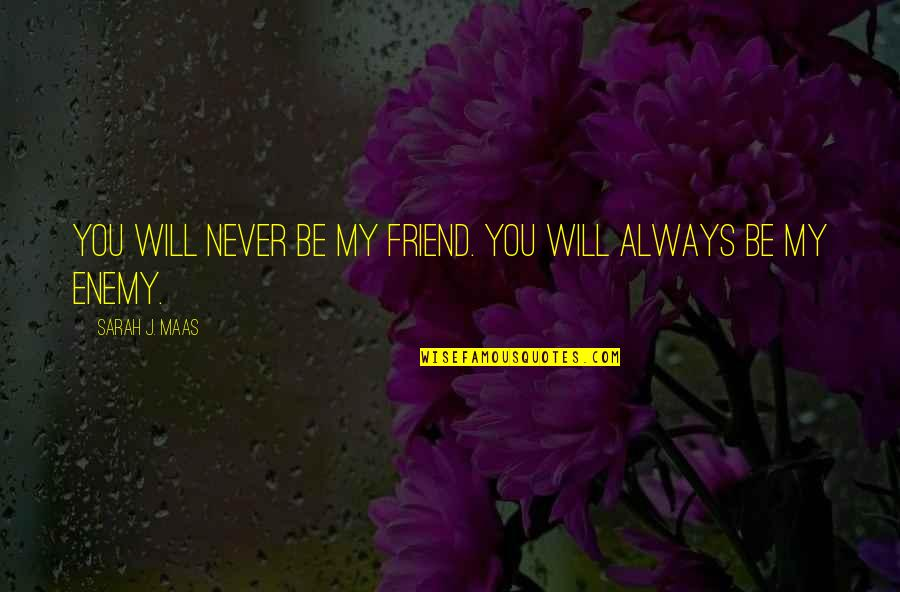 My Friend I Will Always Be With You Quotes By Sarah J. Maas: You will NEVER be my friend. You will