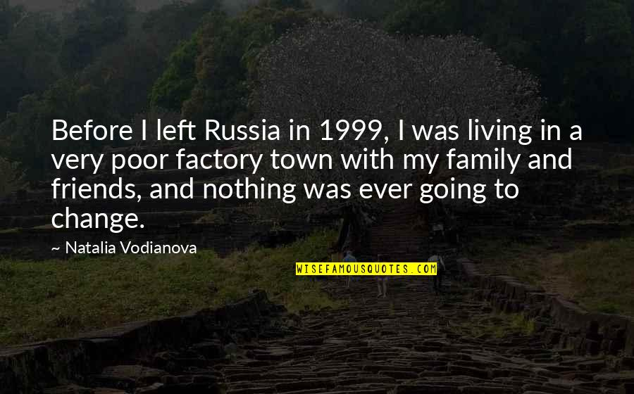 My Friends Are My Family Quotes By Natalia Vodianova: Before I left Russia in 1999, I was