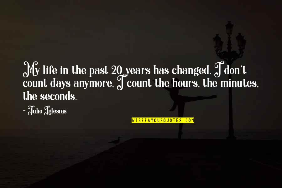 My Life Has Changed Quotes By Julio Iglesias: My life in the past 20 years has