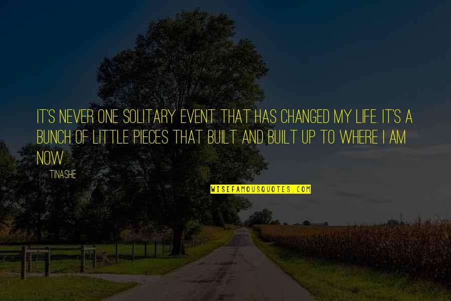 My Life Has Changed Quotes By Tinashe: It's never one solitary event that has changed