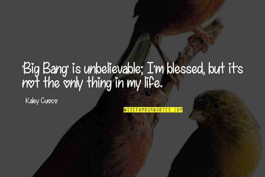 My Life Is Blessed Quotes By Kaley Cuoco: 'Big Bang' is unbelievable; I'm blessed, but it's