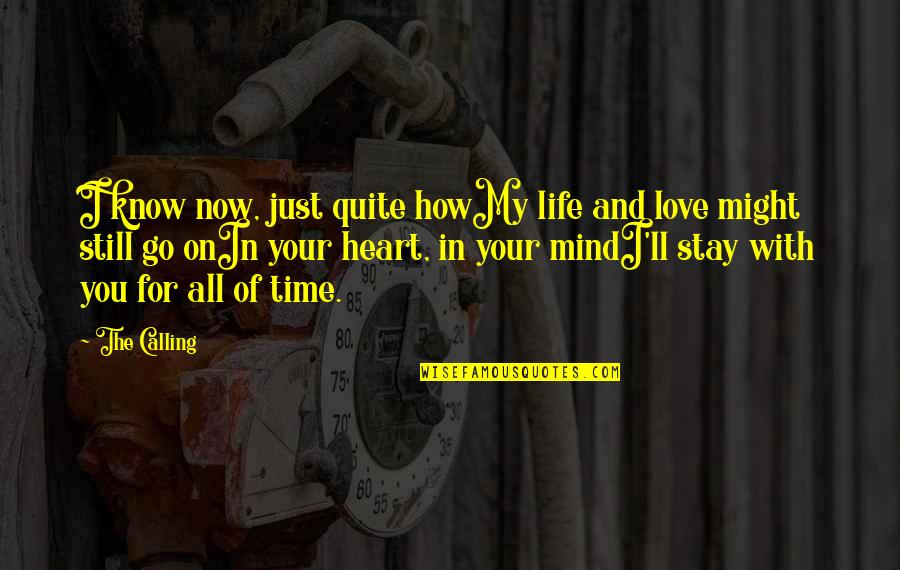 My Love For You Quotes By The Calling: I know now, just quite howMy life and