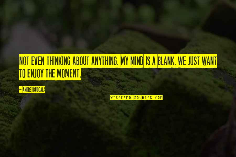 My Mind Is Blank Quotes By Andre Iguodala: Not even thinking about anything. My mind is