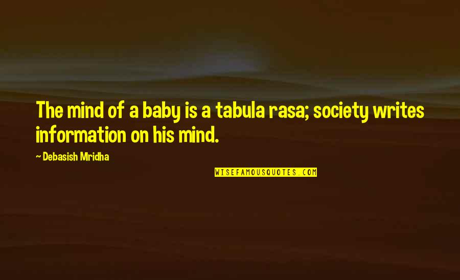 My Mind Is Blank Quotes By Debasish Mridha: The mind of a baby is a tabula