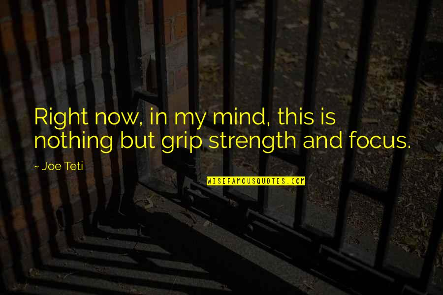 My Mind Right Now Quotes By Joe Teti: Right now, in my mind, this is nothing