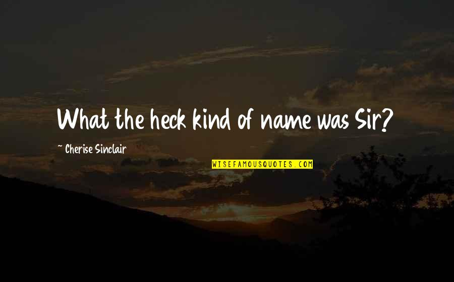 My Name Funny Quotes By Cherise Sinclair: What the heck kind of name was Sir?