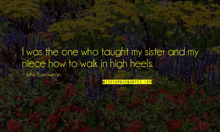 My Niece Quotes By John Barrowman: I was the one who taught my sister