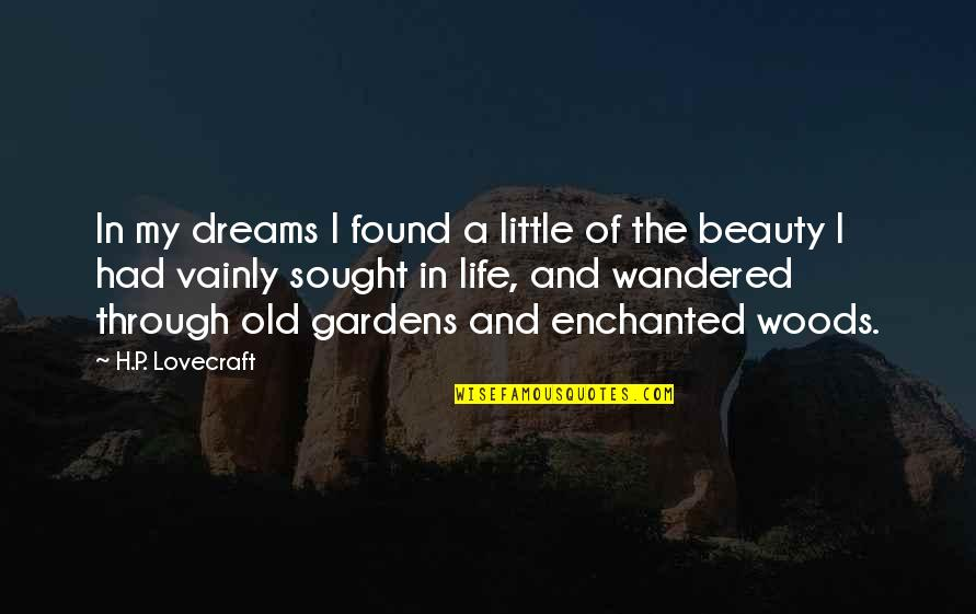 My Old Life Quotes By H.P. Lovecraft: In my dreams I found a little of