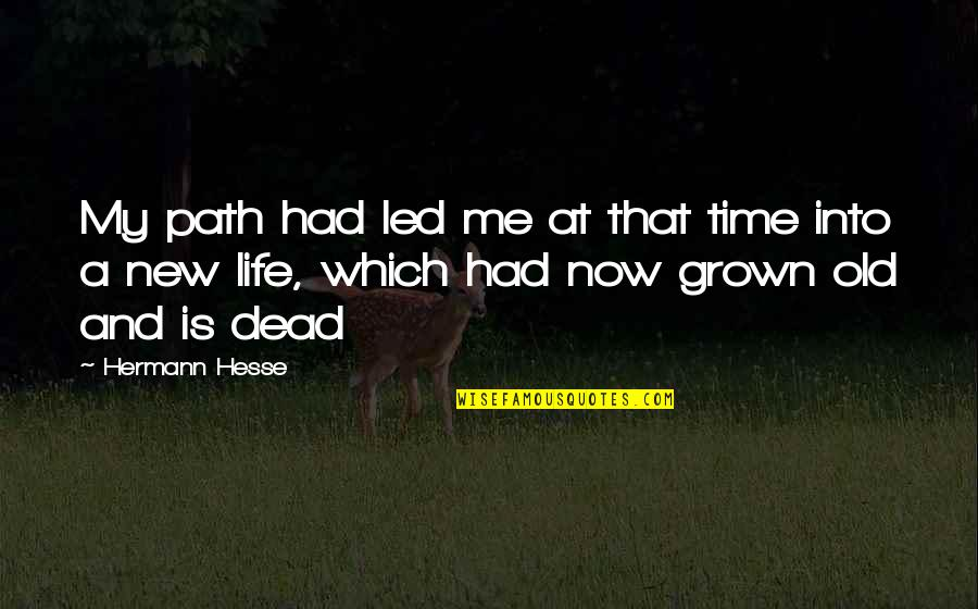 My Old Life Quotes By Hermann Hesse: My path had led me at that time