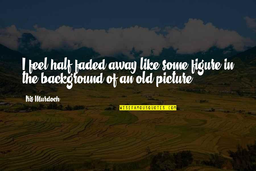 My Other Half Picture Quotes By Iris Murdoch: I feel half faded away like some figure
