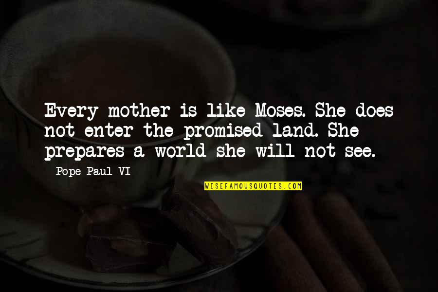 My Promised Land Quotes By Pope Paul VI: Every mother is like Moses. She does not