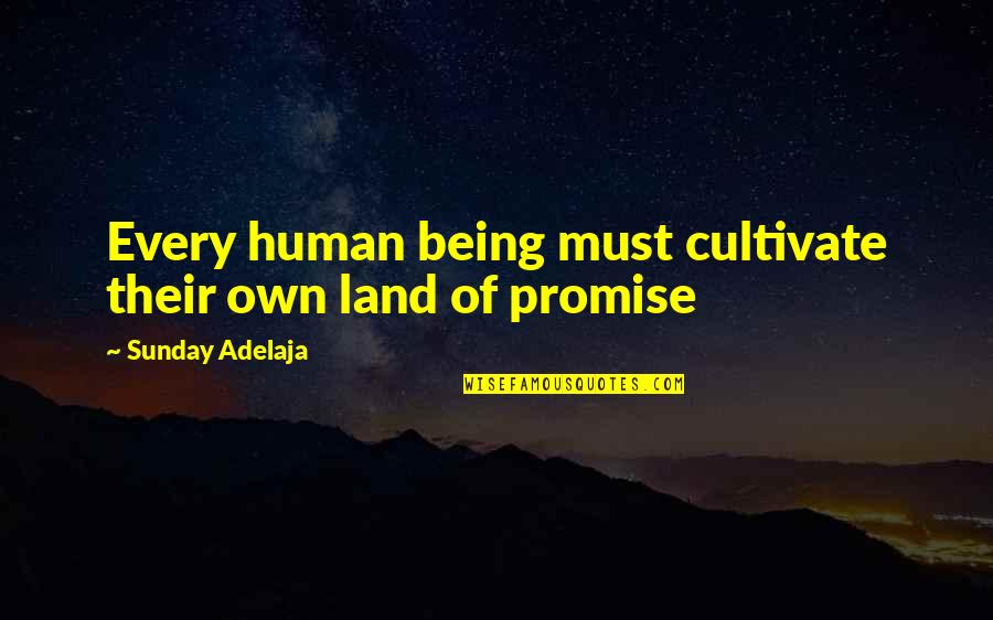 My Promised Land Quotes By Sunday Adelaja: Every human being must cultivate their own land