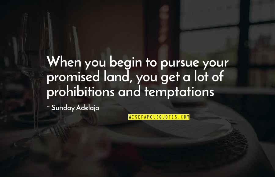 My Promised Land Quotes By Sunday Adelaja: When you begin to pursue your promised land,