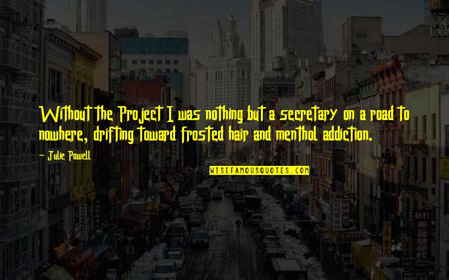 My Road To Nowhere Quotes By Julie Powell: Without the Project I was nothing but a