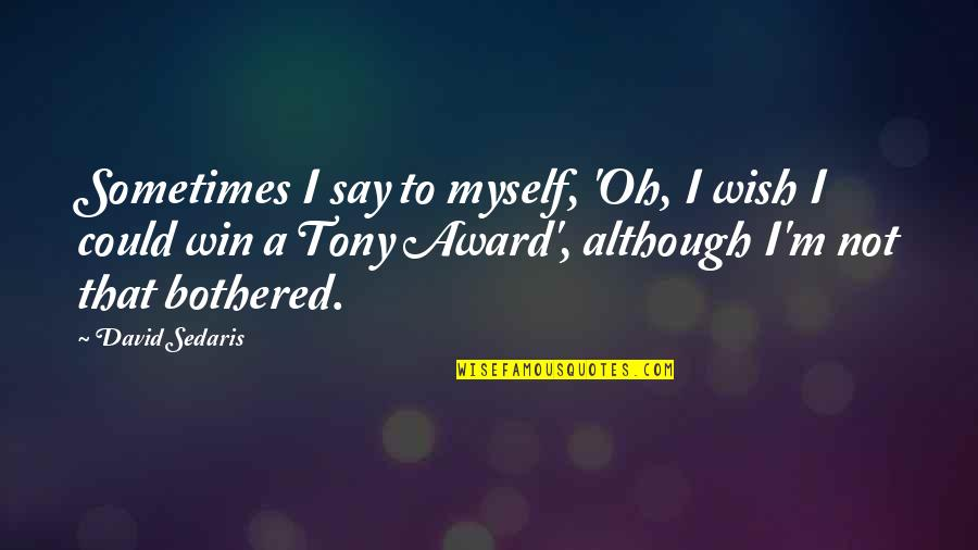 My Wish Is You Quotes By David Sedaris: Sometimes I say to myself, 'Oh, I wish