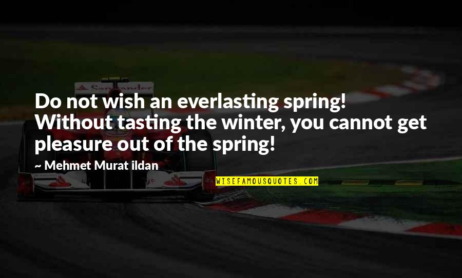 My Wish Is You Quotes By Mehmet Murat Ildan: Do not wish an everlasting spring! Without tasting
