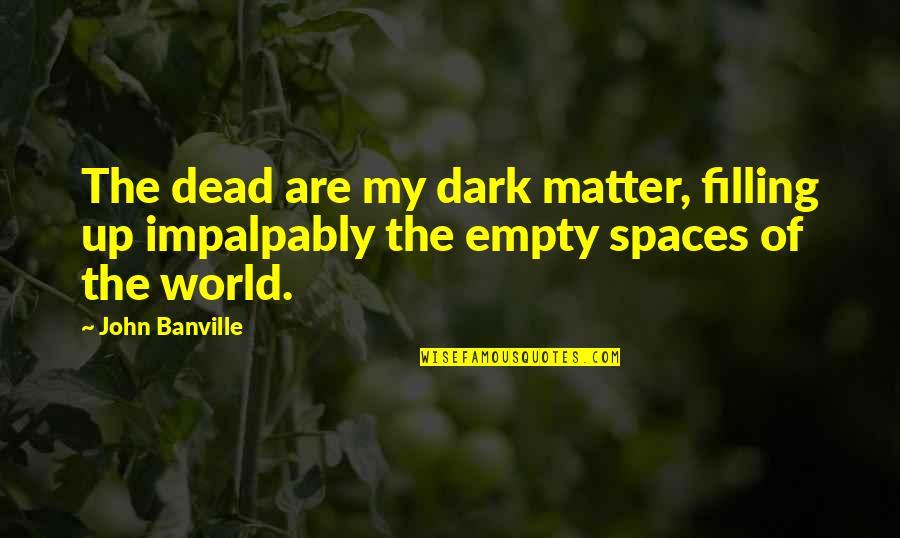 My World Is Empty Without You Quotes By John Banville: The dead are my dark matter, filling up