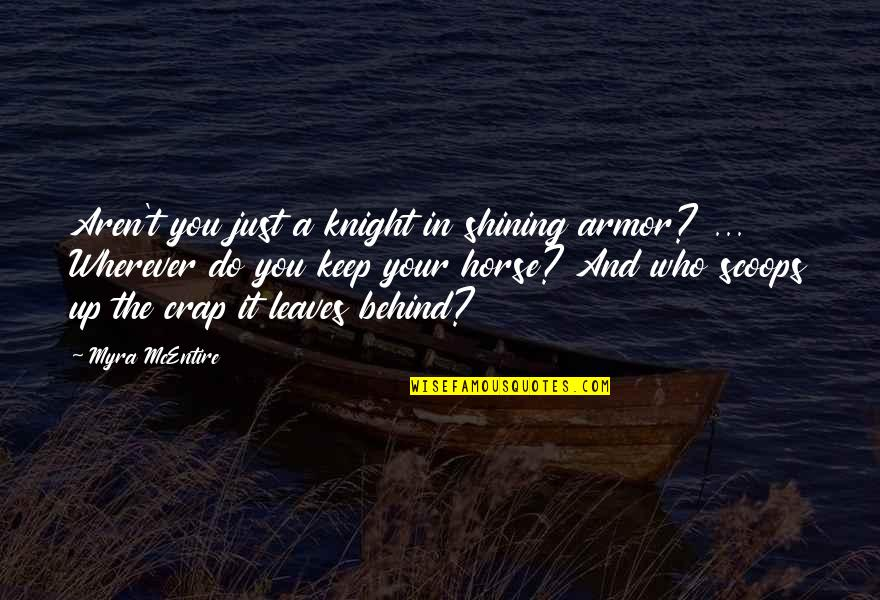 Myra Mcentire Quotes By Myra McEntire: Aren't you just a knight in shining armor?