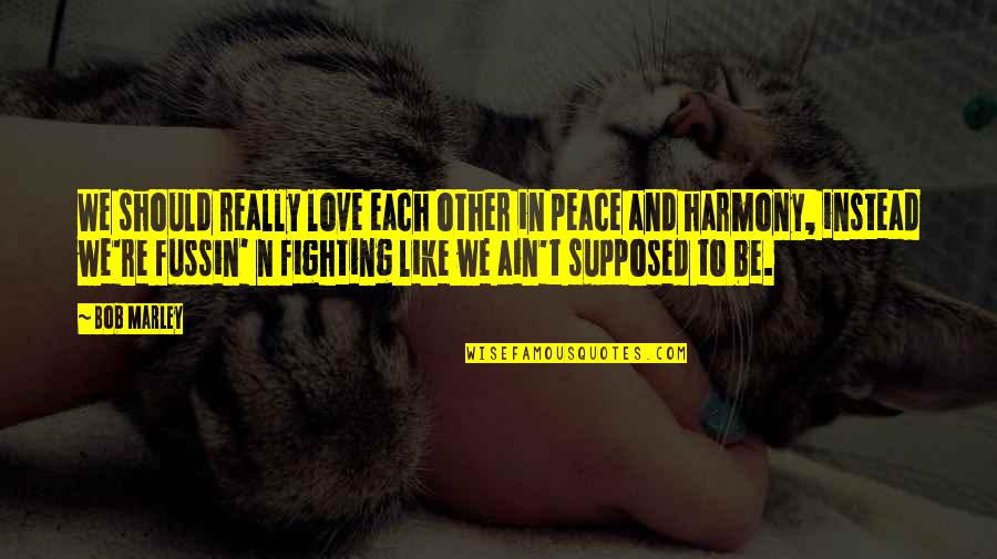 N-secure Quotes By Bob Marley: We should really love each other in peace