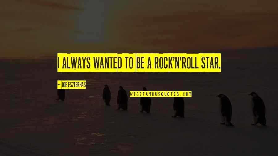 N-secure Quotes By Joe Eszterhas: I always wanted to be a rock'n'roll star.
