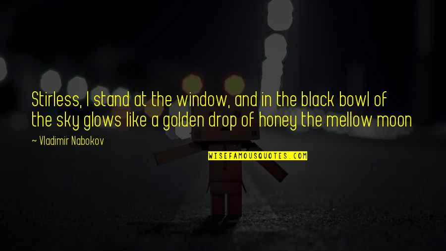 Nabokov Quotes By Vladimir Nabokov: Stirless, I stand at the window, and in
