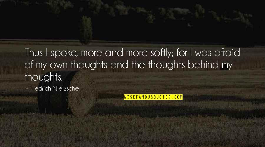 Nakakainis Quotes By Friedrich Nietzsche: Thus I spoke, more and more softly; for