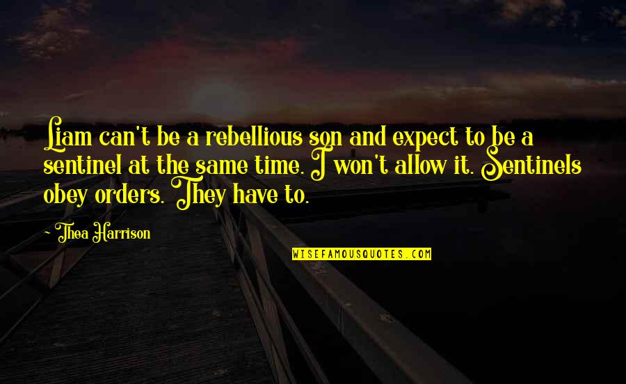 Nakalimutan Ang Monthsary Quotes By Thea Harrison: Liam can't be a rebellious son and expect
