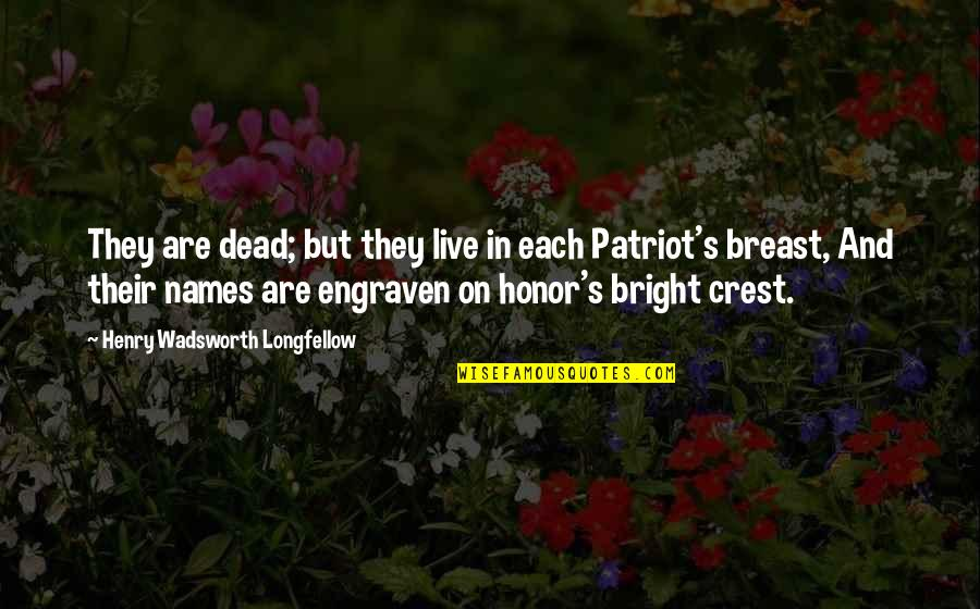 Names Day Quotes By Henry Wadsworth Longfellow: They are dead; but they live in each
