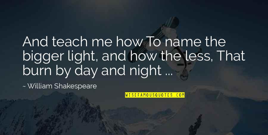 Names Day Quotes By William Shakespeare: And teach me how To name the bigger