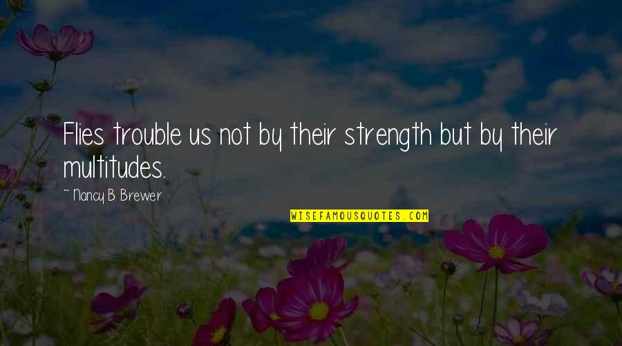 Nancy Quotes By Nancy B. Brewer: Flies trouble us not by their strength but