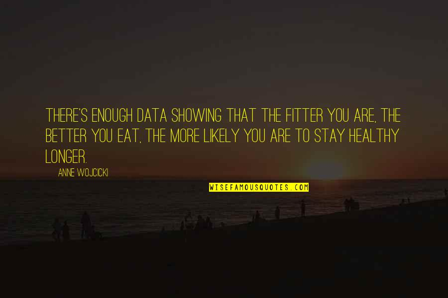 Nani Ghar Quotes By Anne Wojcicki: There's enough data showing that the fitter you