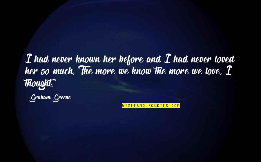 Nanjing Quotes By Graham Greene: I had never known her before and I