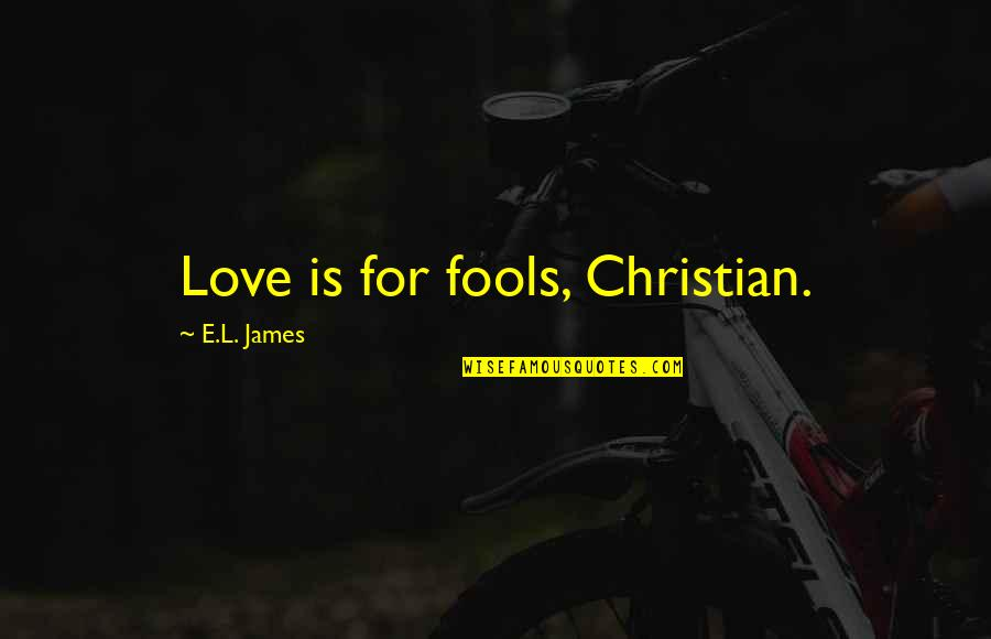 Nasi Goreng Quotes By E.L. James: Love is for fools, Christian.