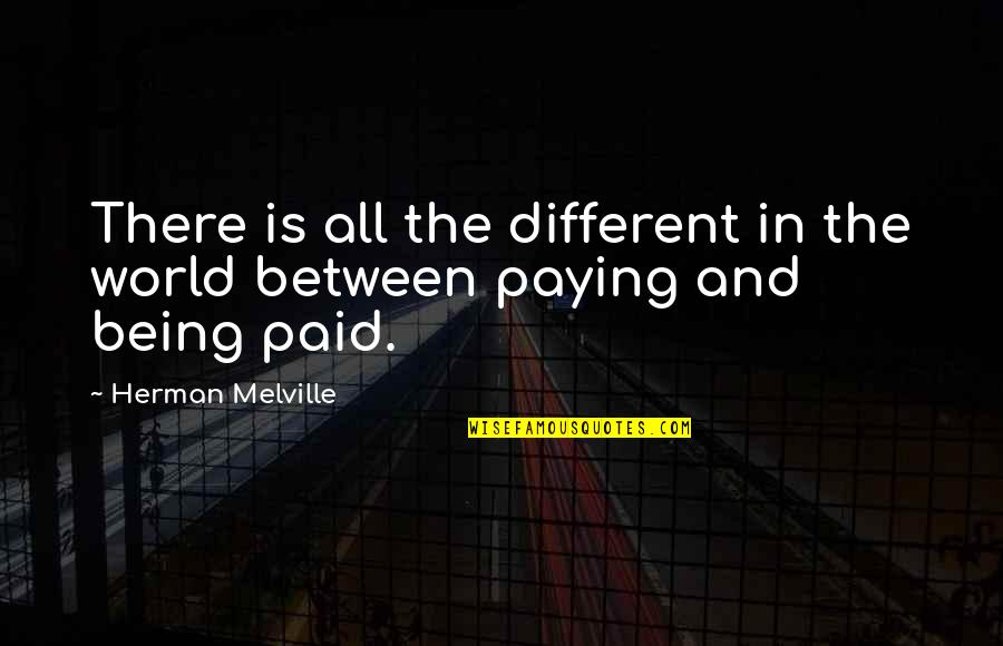 Nasi Goreng Quotes By Herman Melville: There is all the different in the world