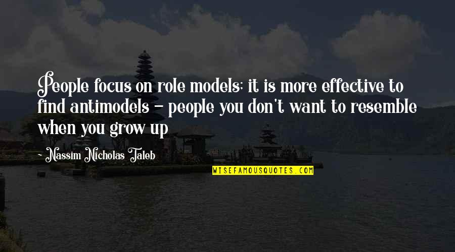Nassim Taleb Best Quotes By Nassim Nicholas Taleb: People focus on role models; it is more
