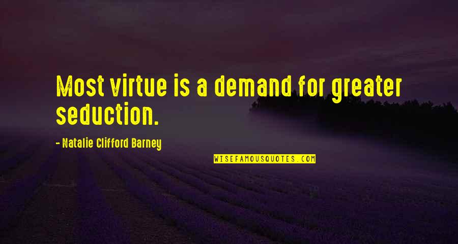 Natalie Barney Quotes By Natalie Clifford Barney: Most virtue is a demand for greater seduction.