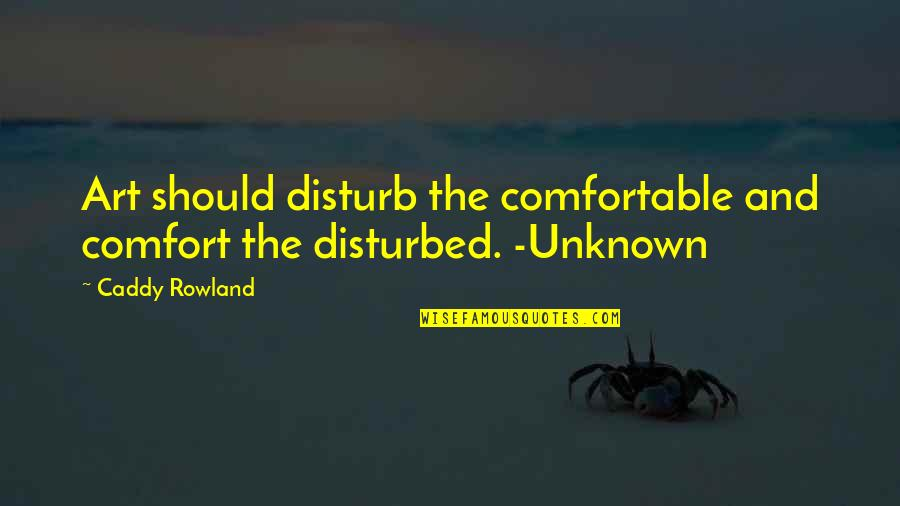 National Lab Week Quotes By Caddy Rowland: Art should disturb the comfortable and comfort the