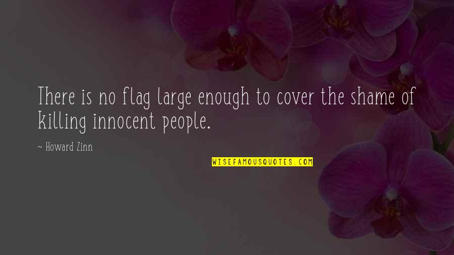 Nationalism And Patriotism Quotes By Howard Zinn: There is no flag large enough to cover
