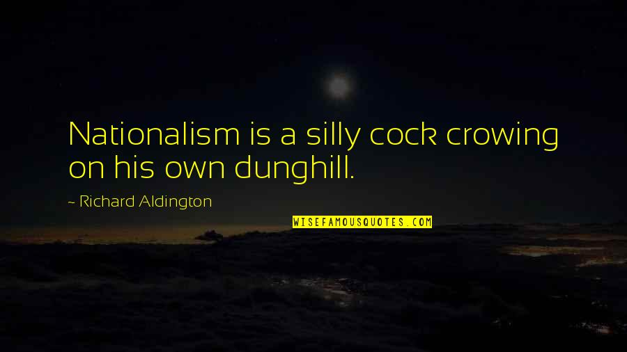 Nationalism And Patriotism Quotes By Richard Aldington: Nationalism is a silly cock crowing on his