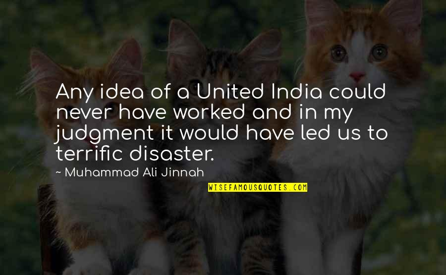 Nationality's Quotes By Muhammad Ali Jinnah: Any idea of a United India could never