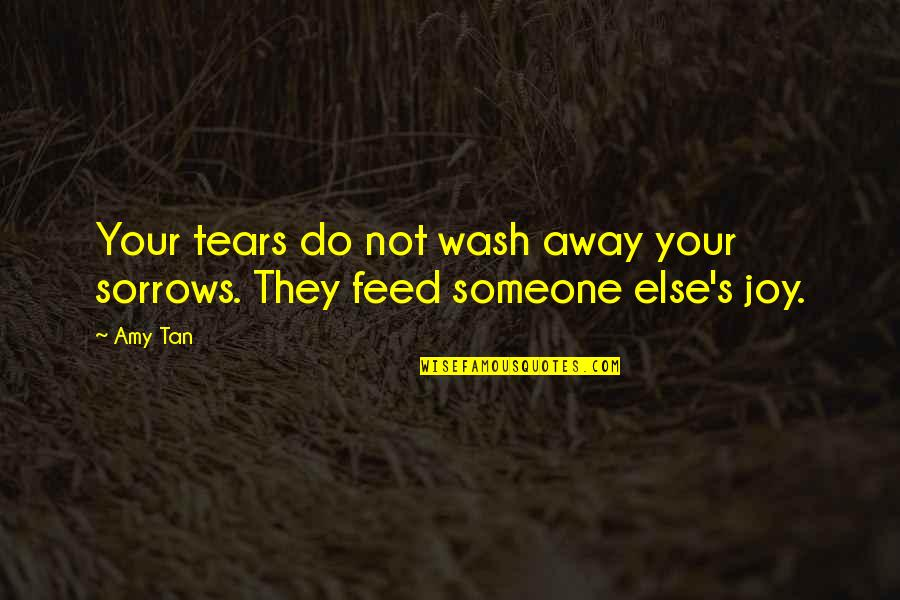 Nature And Being Free Quotes By Amy Tan: Your tears do not wash away your sorrows.