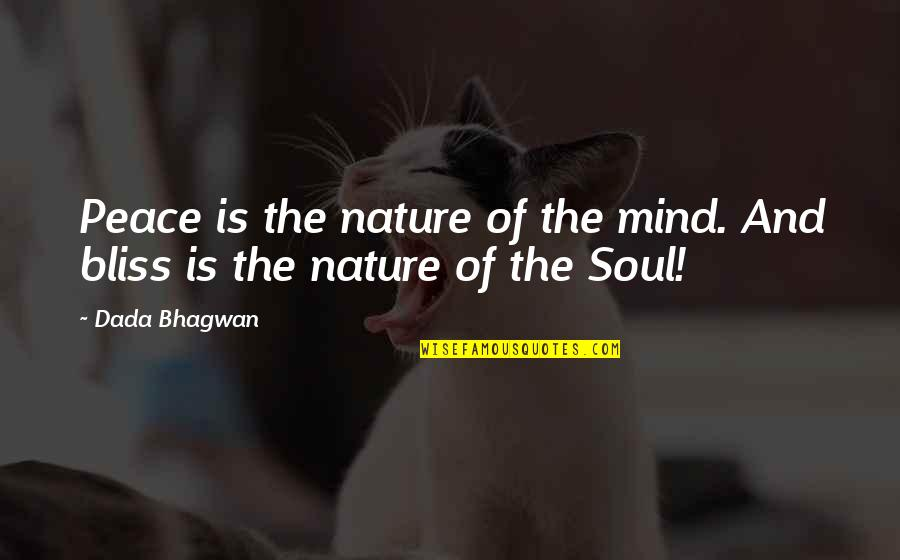 Nature And Spiritual Quotes By Dada Bhagwan: Peace is the nature of the mind. And