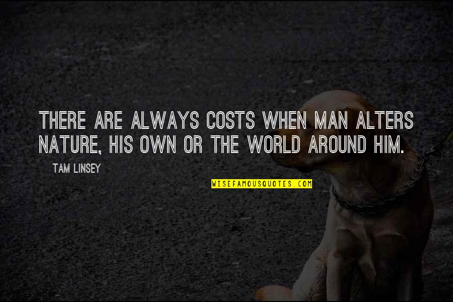 Nature Vs Man Quotes By Tam Linsey: There are always costs when man alters nature,
