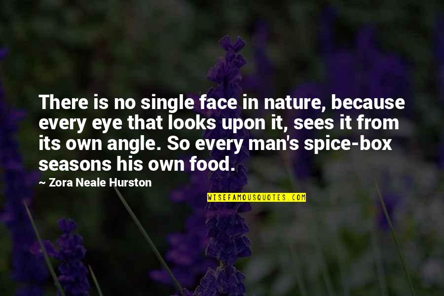 Nature Vs Man Quotes By Zora Neale Hurston: There is no single face in nature, because