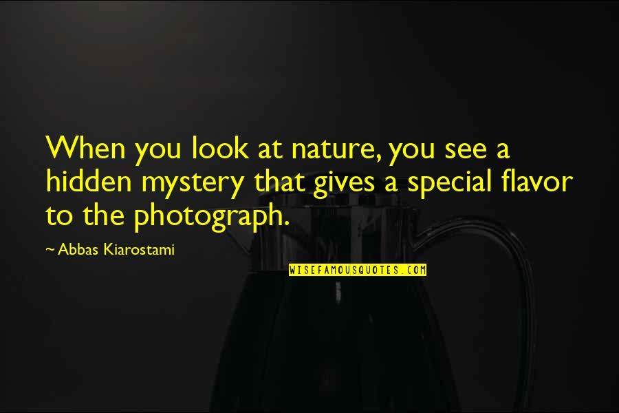 Nature's Mystery Quotes By Abbas Kiarostami: When you look at nature, you see a