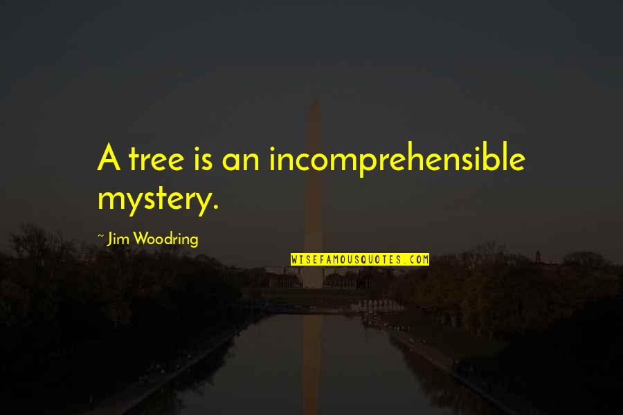 Nature's Mystery Quotes By Jim Woodring: A tree is an incomprehensible mystery.