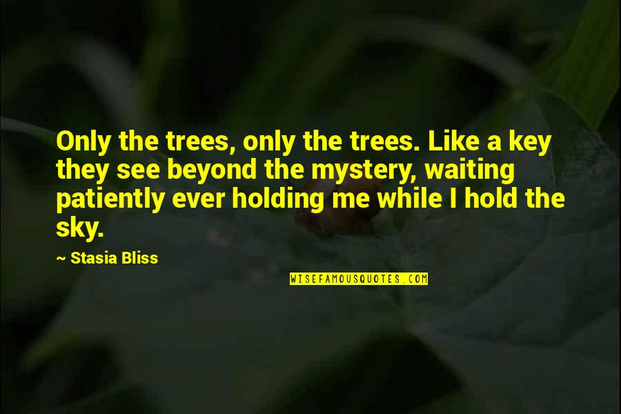 Nature's Mystery Quotes By Stasia Bliss: Only the trees, only the trees. Like a