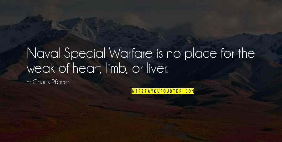 Naval Special Warfare Quotes By Chuck Pfarrer: Naval Special Warfare is no place for the